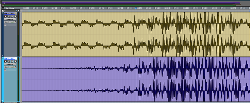 Screen shot of the final repaired audio